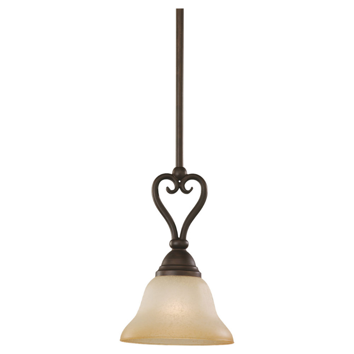 Sea Gull Lighting Montclaire 1 Light Pendant in Olde Iron 61105-72 photo