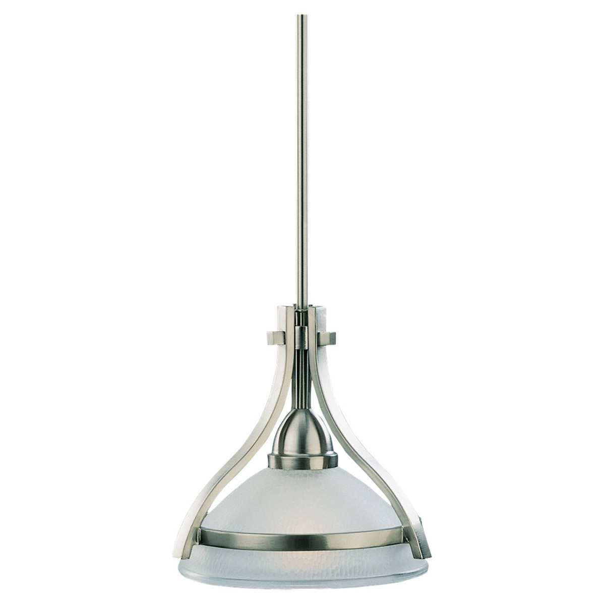 Sea Gull Lighting Eternity 1 Light Mini Pendant in Brushed Nickel 61115-962
