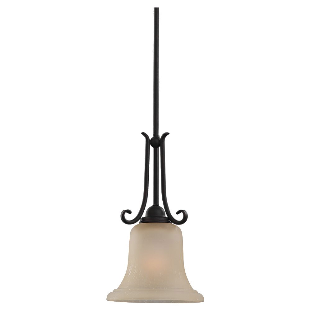 Sea Gull Lighting Del Prato 1 Light Mini Pendant in Chestnut Bronze 61120-820