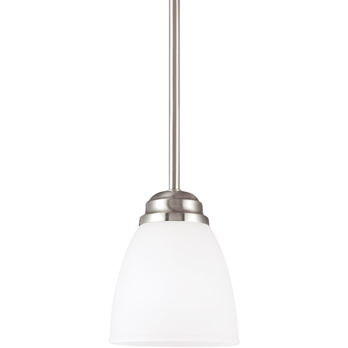 Sea Gull 6112401BLE-962 Northbrook 1 Light 6 inch Brushed Nickel Mini Pendant Ceiling Light in Fluorescent photo