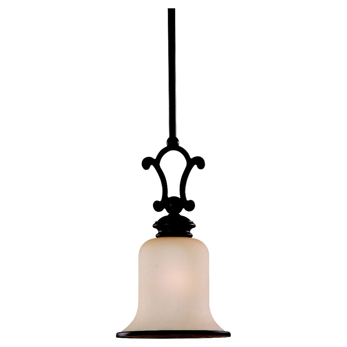 Sea Gull 61145-814 Acadia 1 Light 8 inch Misted Bronze Mini Pendant Ceiling Light in Standard photo