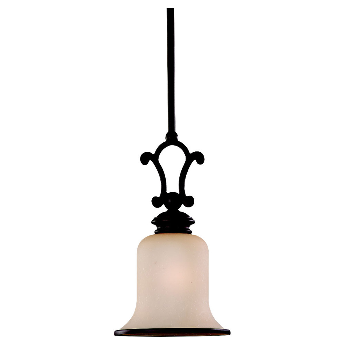 Sea Gull Lighting Acadia 1 Light Mini Pendant in Misted Bronze 61145BLE-814