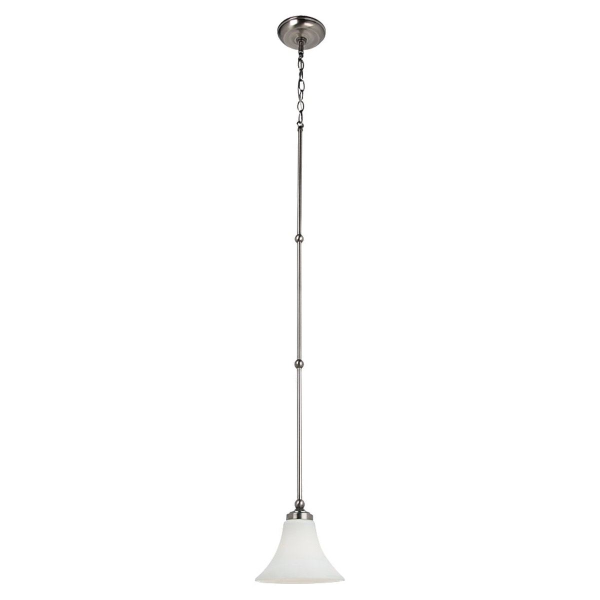 Sea Gull Lighting Montreal 1 Light Mini Pendant in Antique Brushed Nickel 61180-965