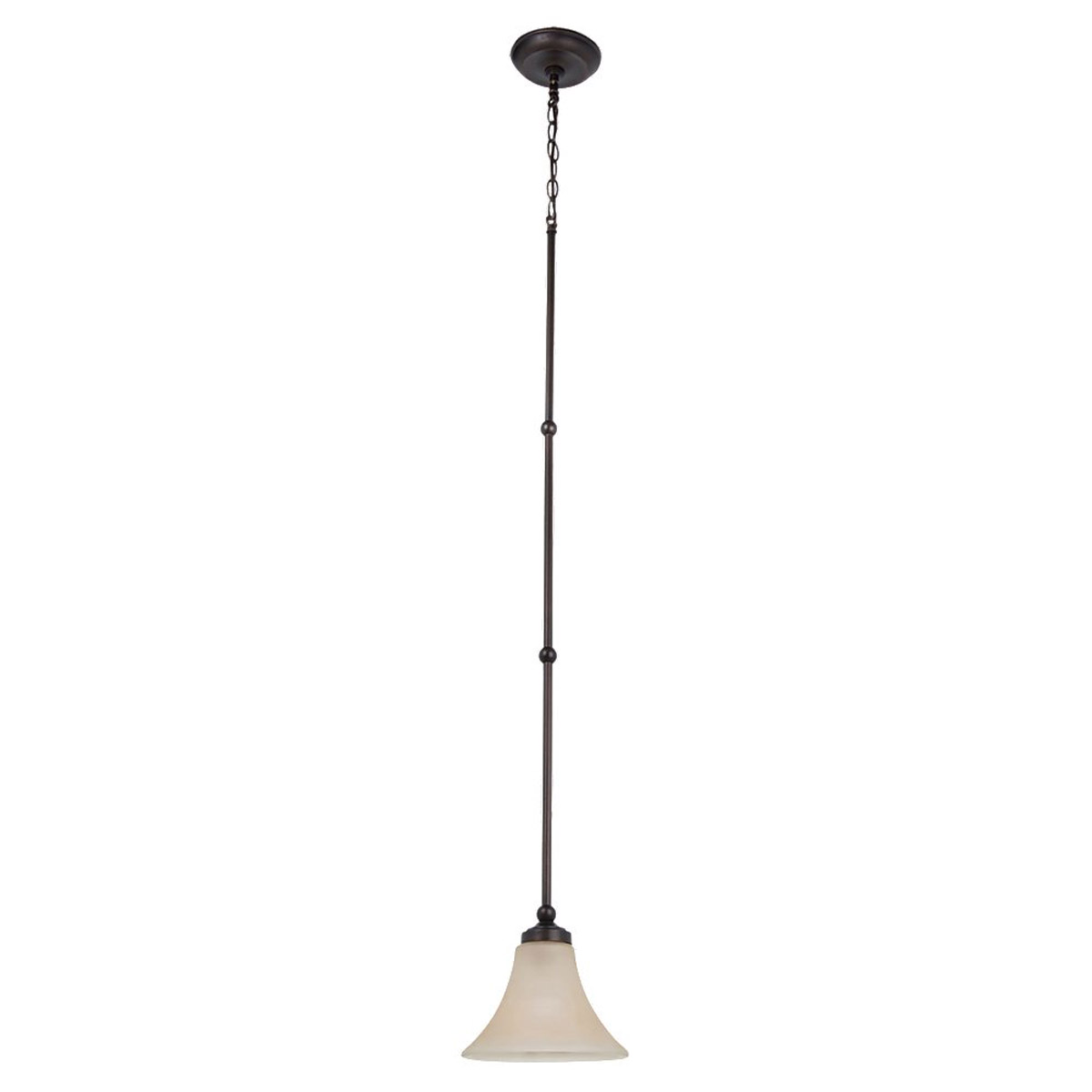 Sea Gull Lighting Montreal 1 Light Mini Pendant in Burnt Sienna 61180BLE-710