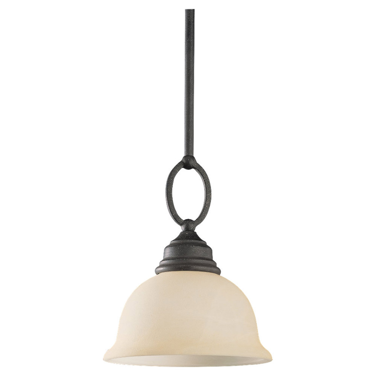Sea Gull Lighting Serenity 1 Light Mini Pendant in Weathered Iron 61190-07