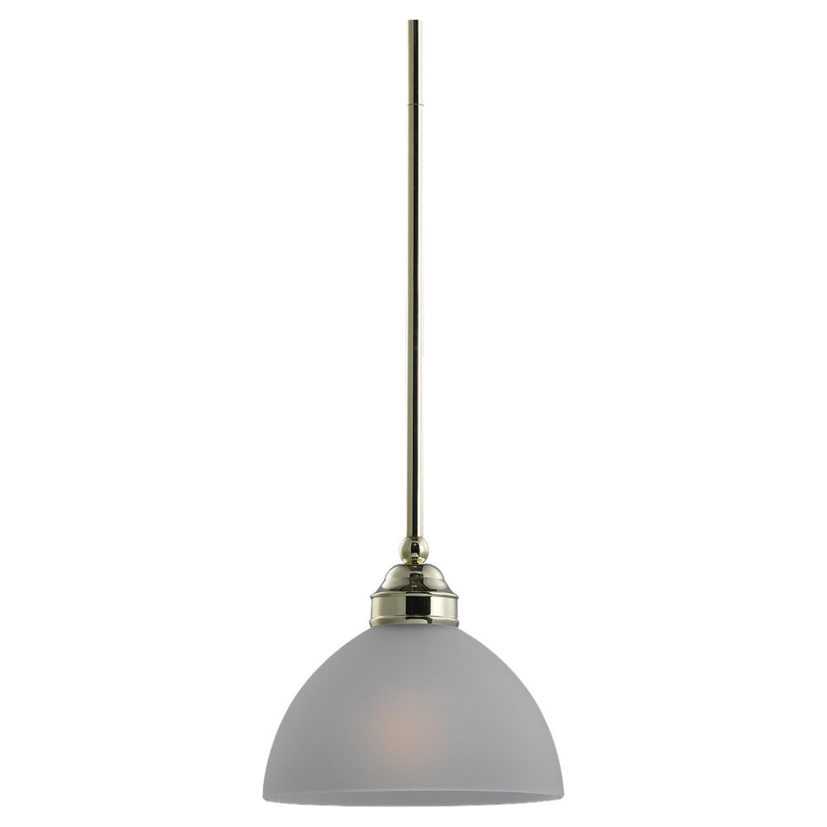 Sea Gull Lighting Linwood 1 Light Mini Pendant in Polished Brass 61225-02