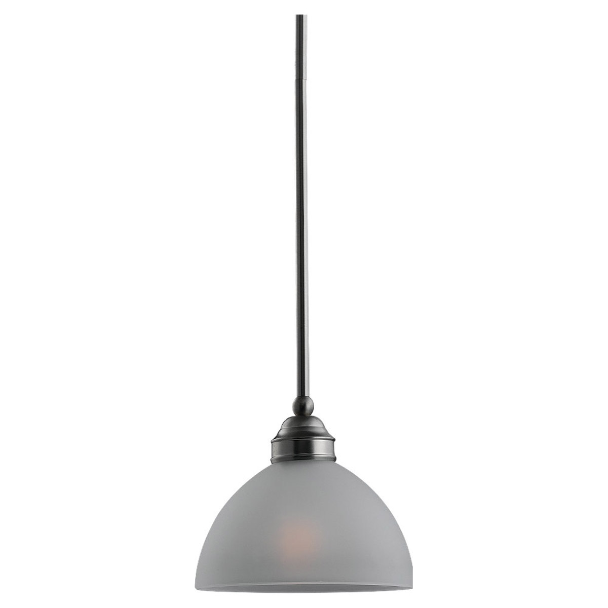 Sea Gull Lighting Linwood 1 Light Mini Pendant in Brushed Nickel 61225-962