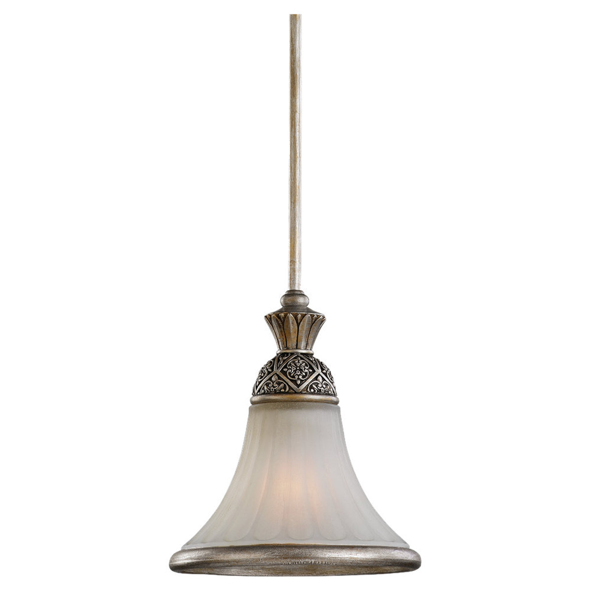 Sea Gull Lighting Highlands 1 Light Mini Pendant in Palladium 61251-824 photo