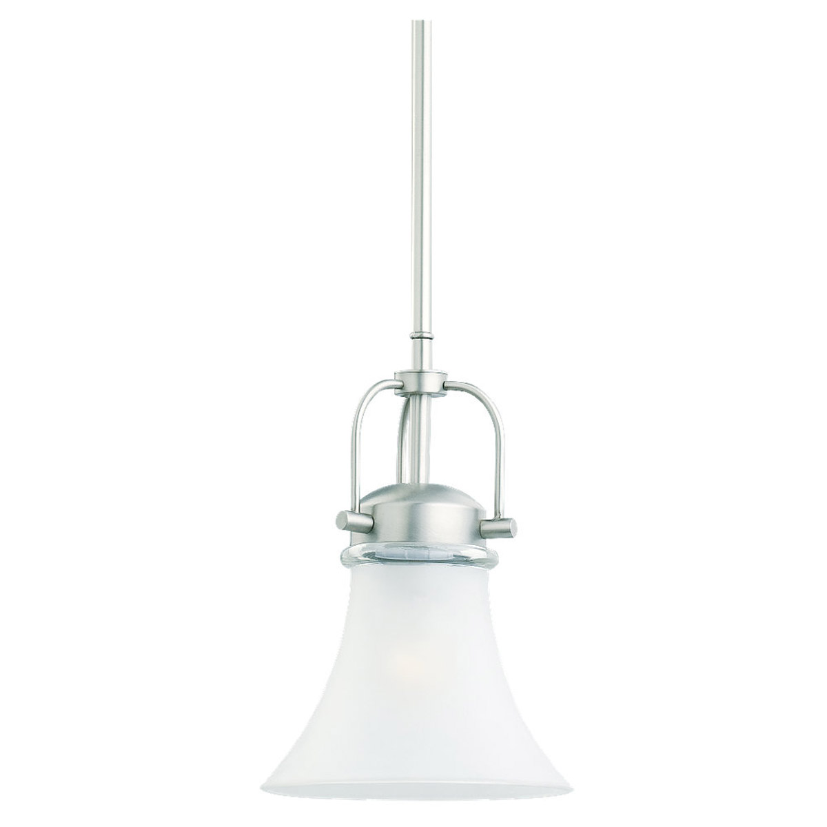 Sea Gull Lighting Newport 1 Light Mini Pendant in Antique Brushed Nickel 61283-965