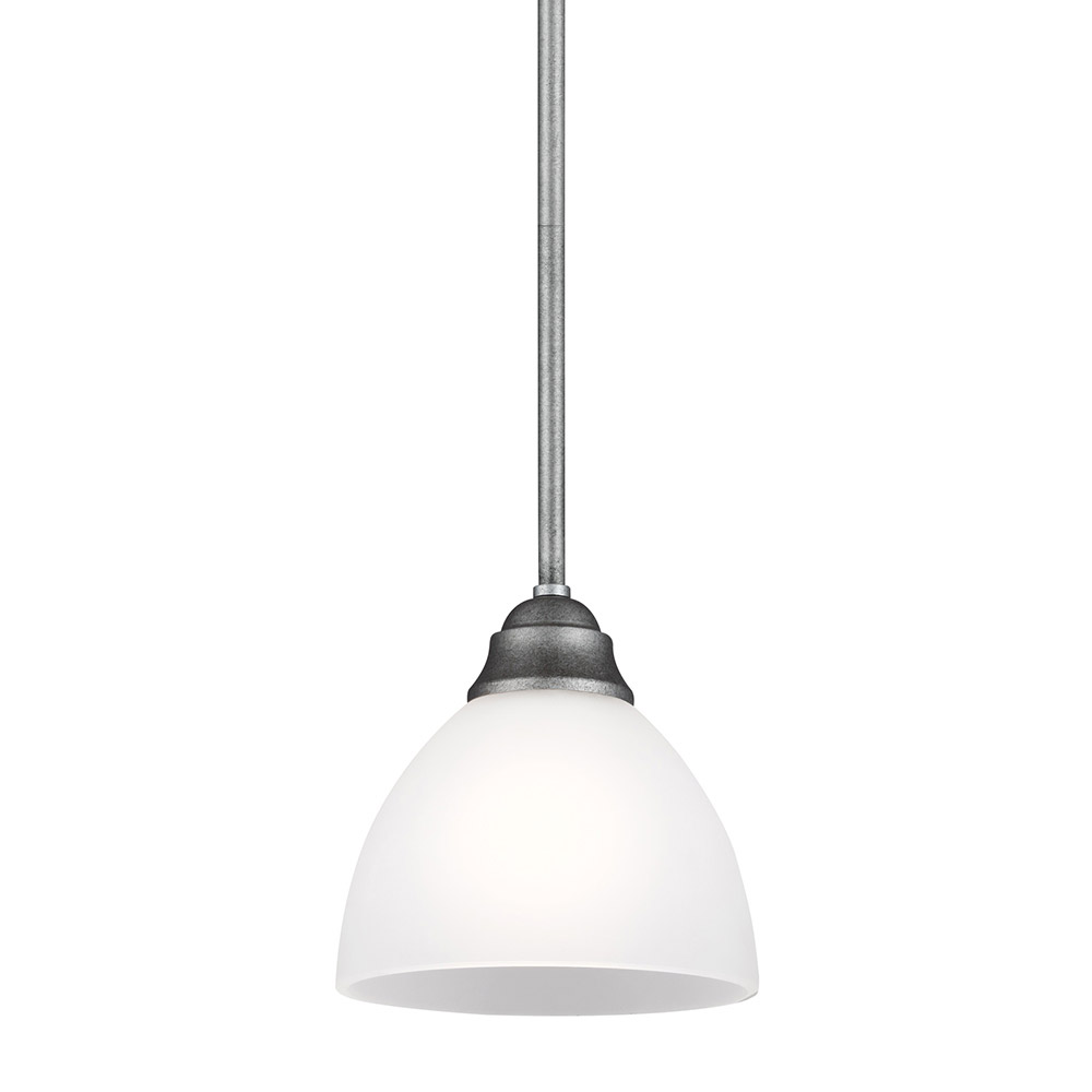 Sea Gull Vitelli 1 Light Mini Pendant in Weathered Pewter 6131401BLE-57