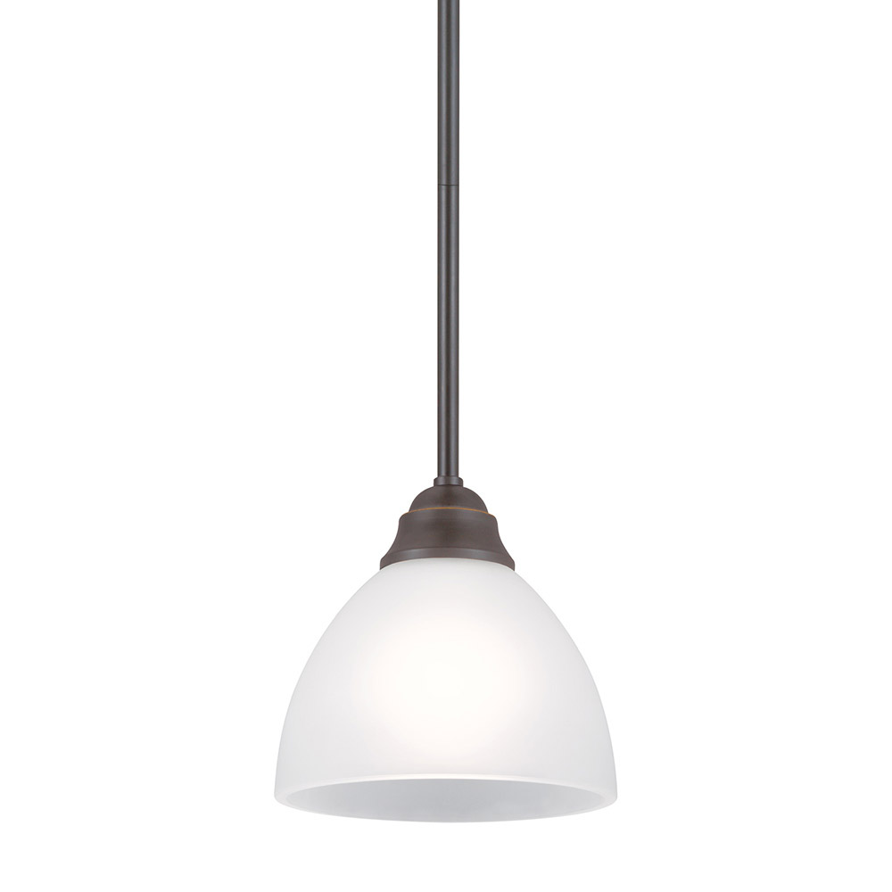 Sea Gull Vitelli 1 Light Mini Pendant in Autumn Bronze 6131401BLE-715