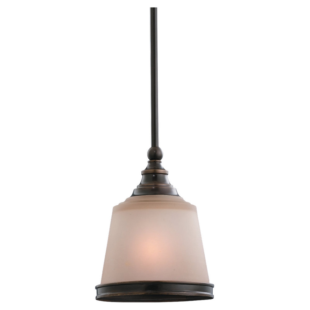 Sea Gull Lighting Warwick 1 Light Mini Pendant in Vintage Bronze 61330BLE-825