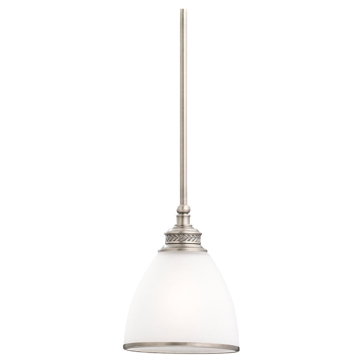 Sea Gull Lighting Laurel Leaf 1 Light Mini Pendant in Antique Brushed Nickel 61350-965
