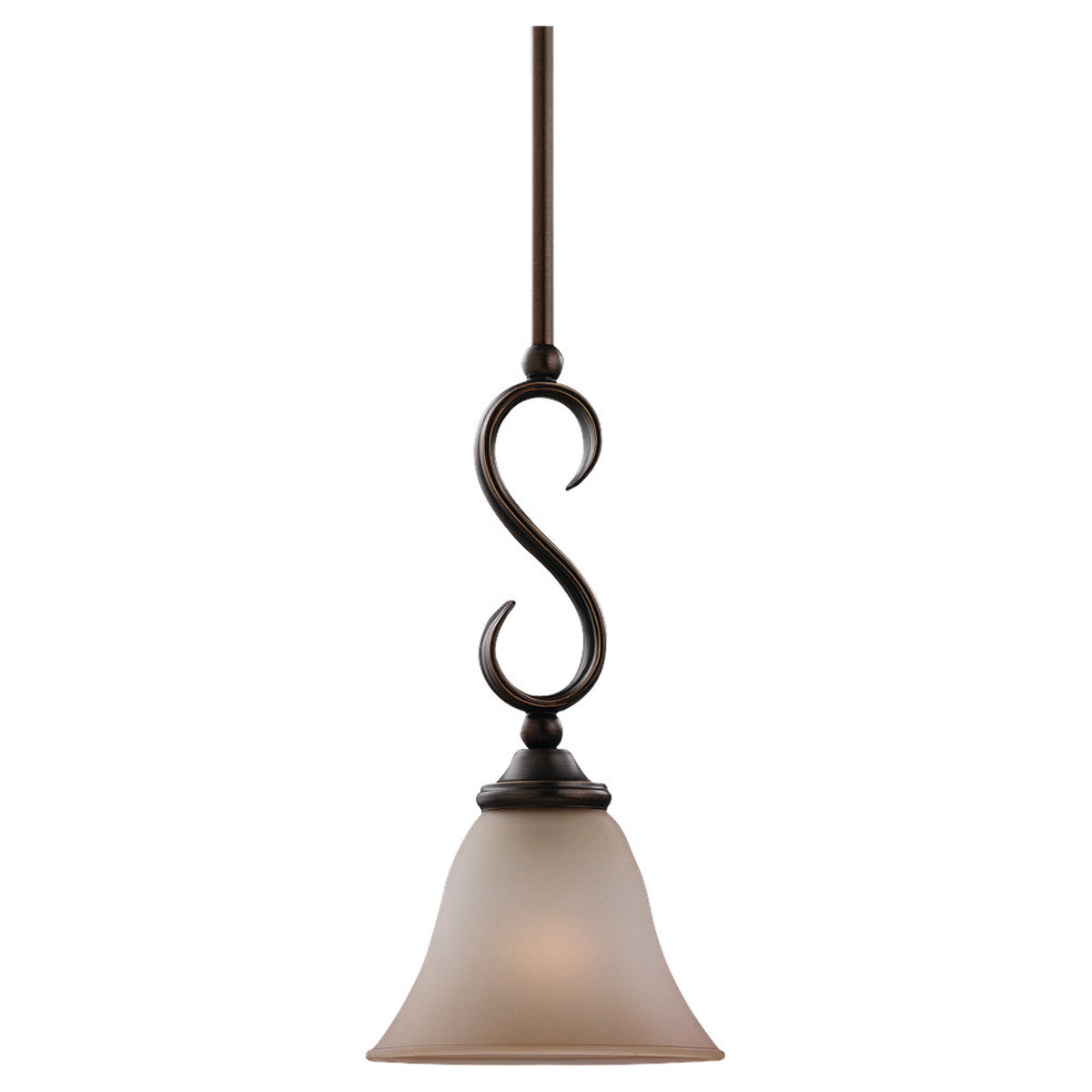 Sea Gull Lighting Rialto 1 Light Mini Pendant in Russet Bronze 61360-829