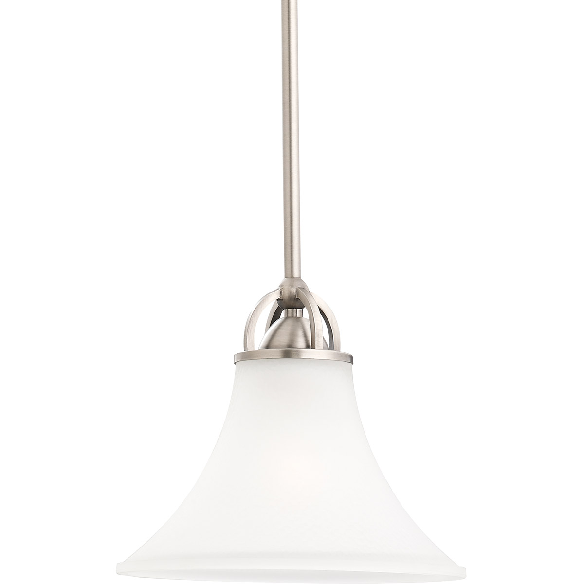 Sea Gull 61375BLE-965 Somerton 1 Light 9 inch Antique Brushed Nickel Mini Pendant Ceiling Light in Satin Etched Glass, Fluorescent photo