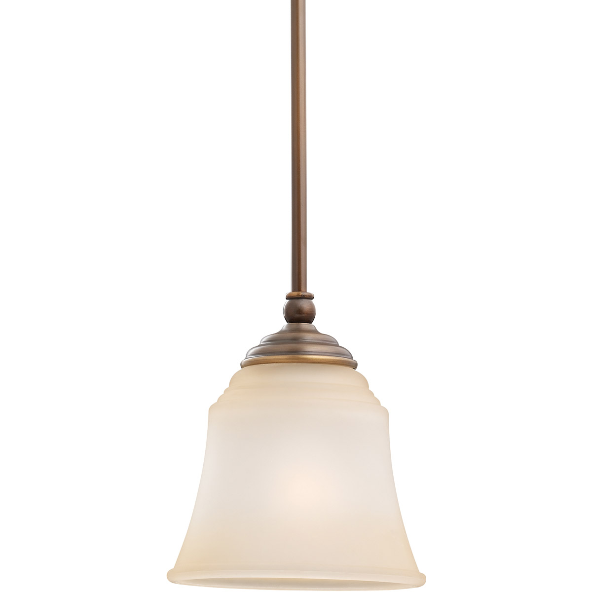 Sea Gull Lighting Parkview 1 Light Mini Pendant in Russet Bronze 61380-829