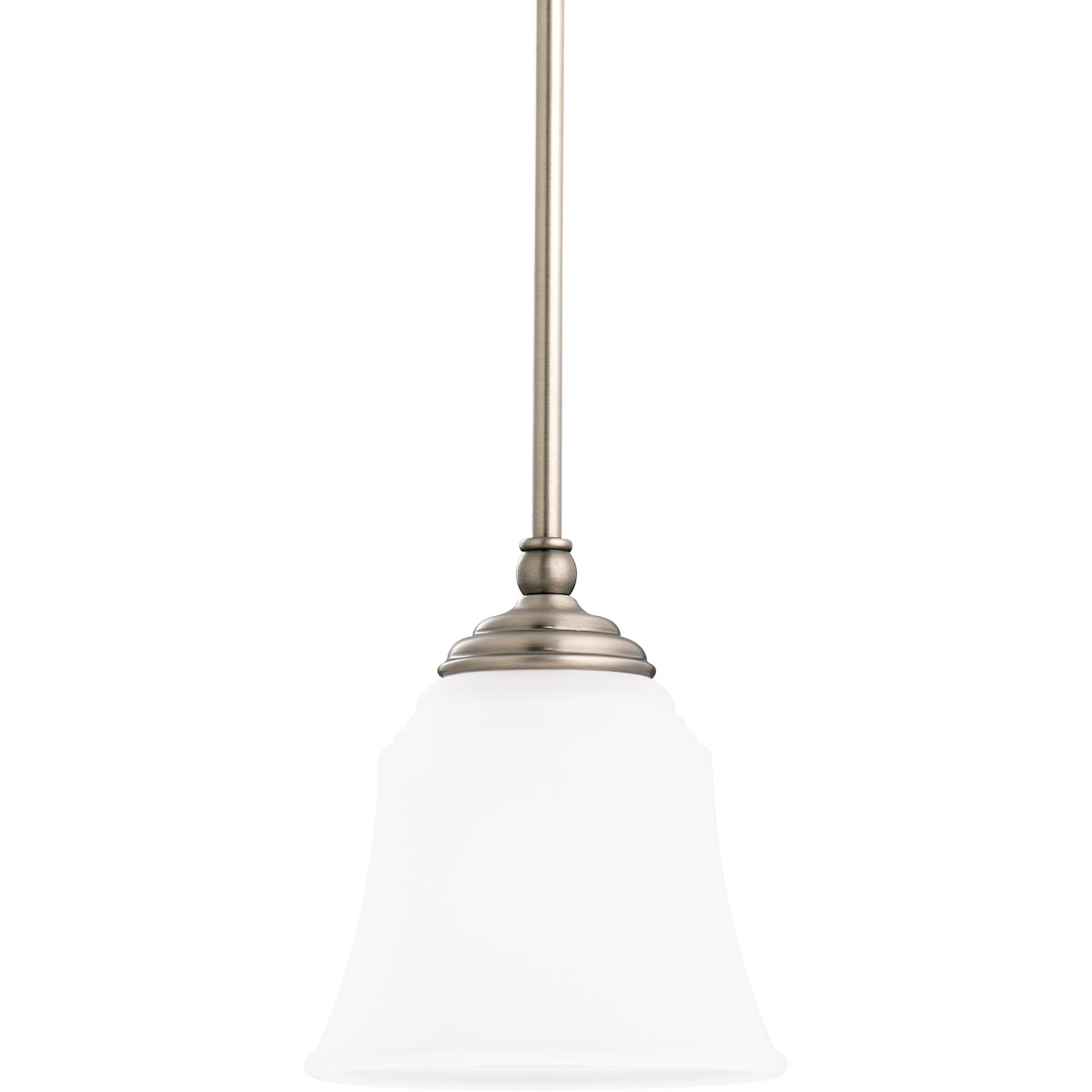 Sea Gull Lighting Parkview 1 Light Mini Pendant in Antique Brushed Nickel 61380-965