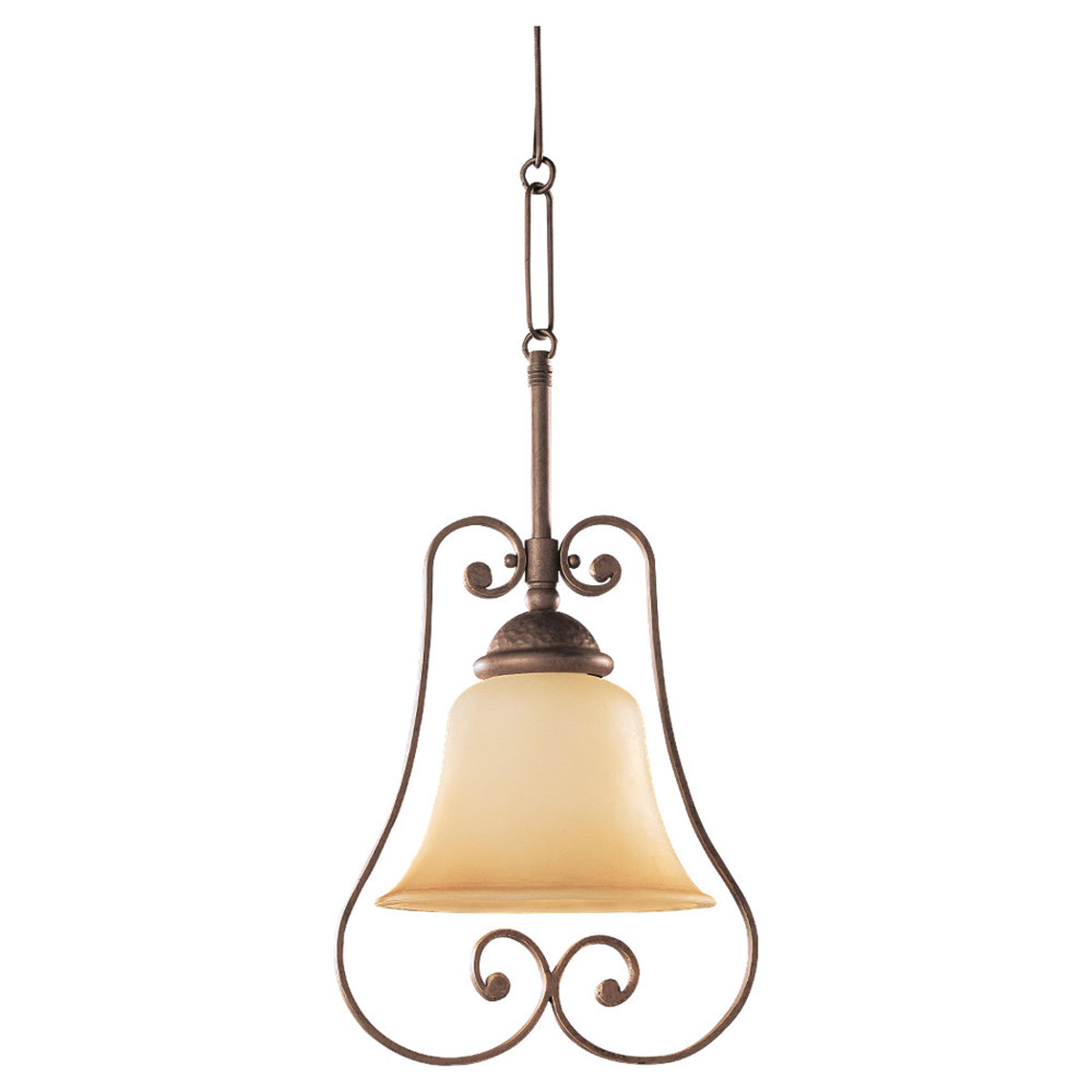 Sea Gull Lighting Brandywine 1 Light Mini Pendant in Antique Bronze 61430-71