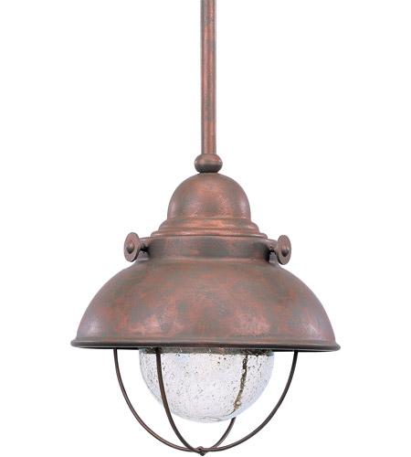 Sebring 1 Light 8 Inch Weathered Copper Mini Pendant Ceiling Light