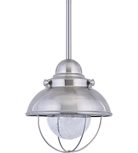 Sea Gull 6150-98 Sebring 1 Light 8 inch Brushed Stainless Mini Pendant Ceiling Light photo