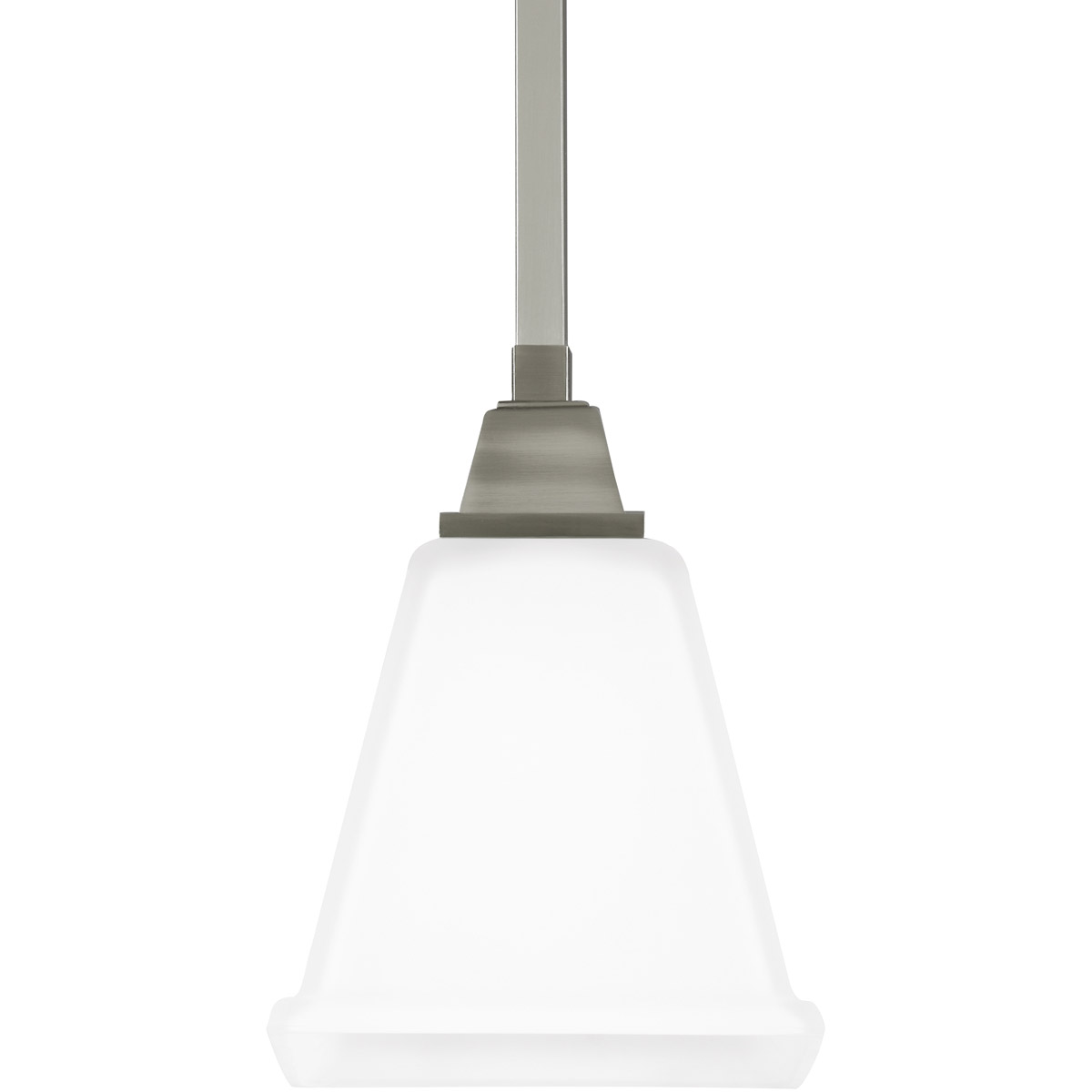 Sea Gull Denhelm 1 Light Mini Pendant in Brushed Nickel 6150401-962