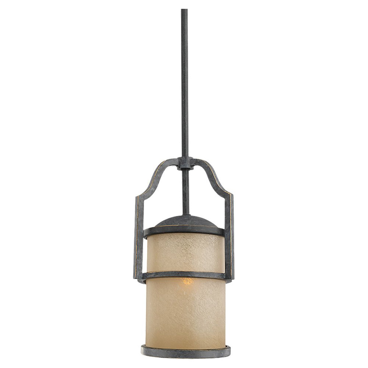Sea Gull 61520BLE-845 Roslyn 1 Light 7 inch Flemish Bronze Mini Pendant Ceiling Light in Fluorescent photo