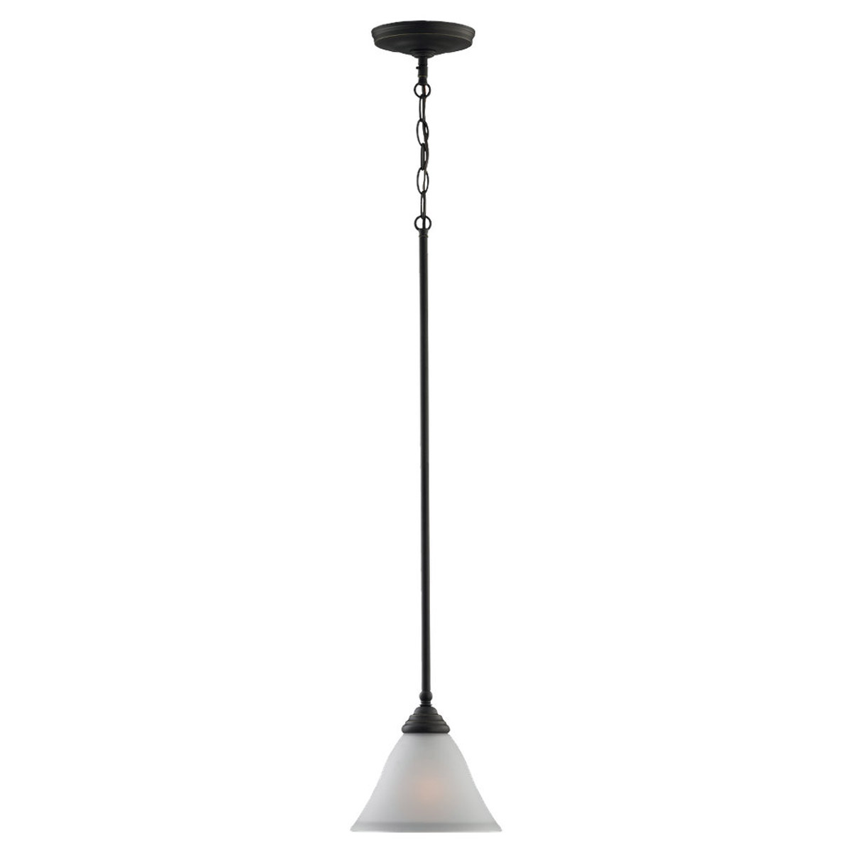 Sea Gull Lighting Albany 1 Light Mini Pendant in Heirloom Bronze 61575-782