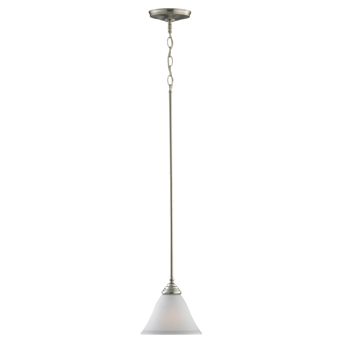 Sea Gull Lighting Albany 1 Light Mini Pendant in Brushed Nickel 61575-962