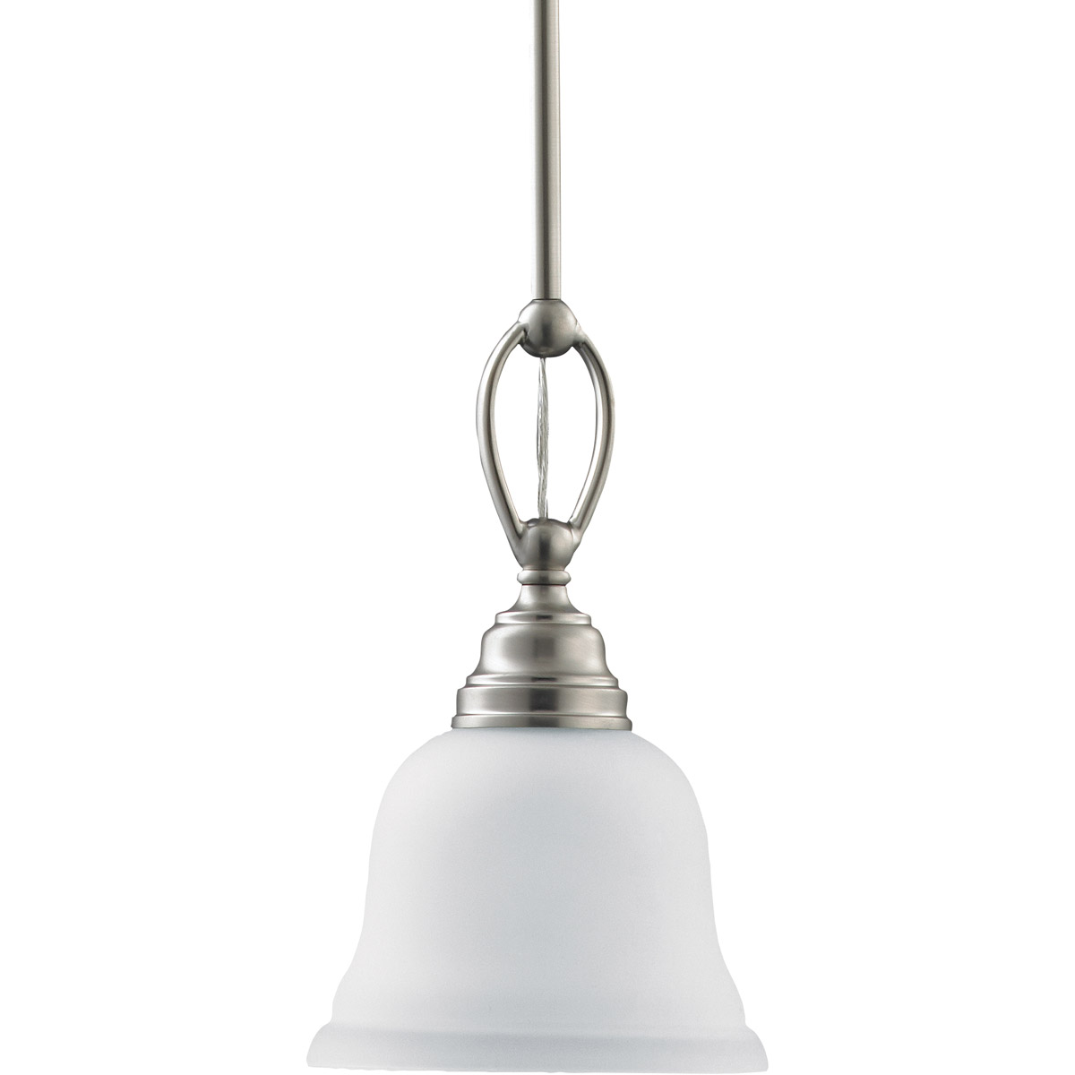 Sea Gull Lighting Wheaton 1 Light Mini Pendant in Brushed Nickel 61625-962