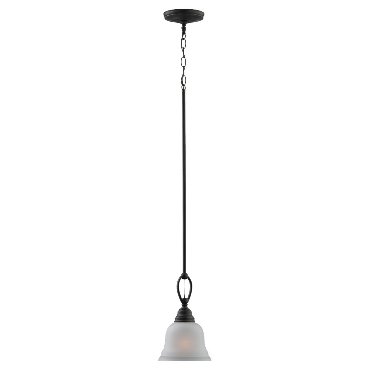 Sea Gull 61625BLE-782 Wheaton 1 Light 7 inch Heirloom Bronze Mini Pendant Ceiling Light in Fluorescent photo