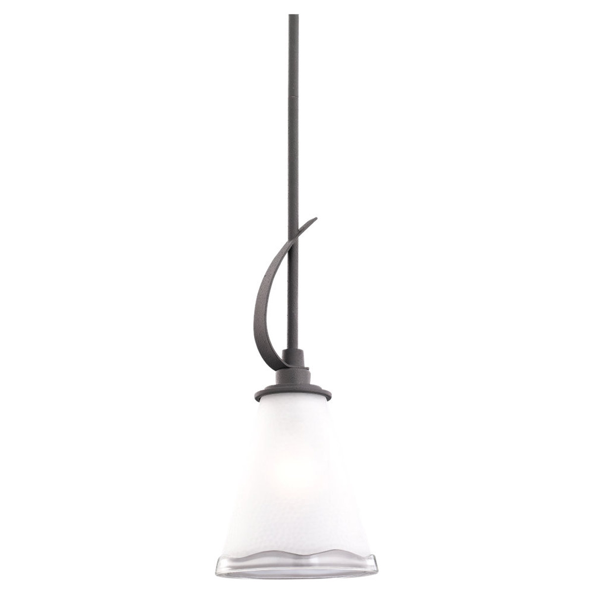 Sea Gull Lighting 59th Street 1 Light Pendant in Blacksmith 61640-839