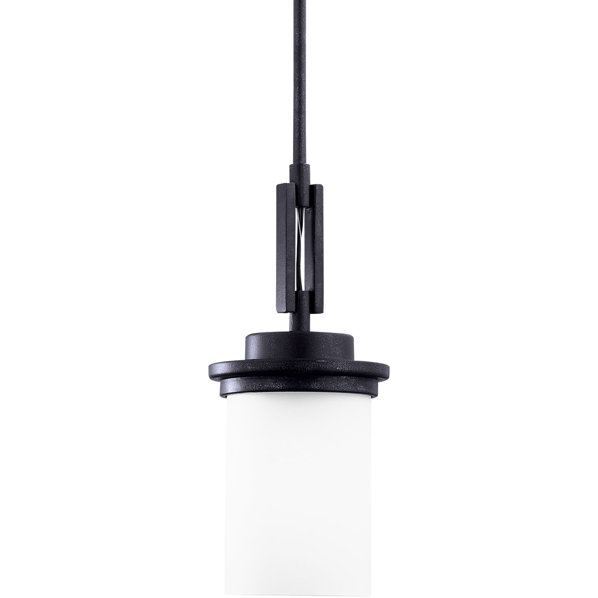 Sea Gull Lighting Winnetka 1 Light Mini Pendant in Blacksmith 61660-839
