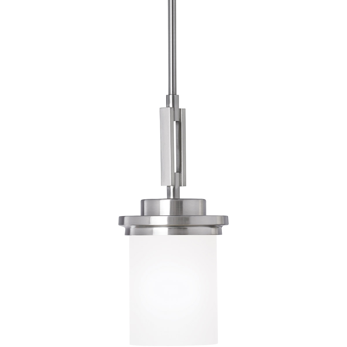 Sea Gull Winnetka 1 Light Mini Pendant in Brushed Nickel 61660-962