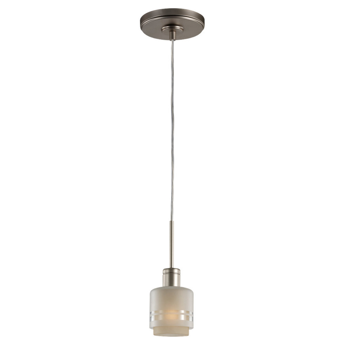 Sea Gull Lighting Groove 1 Light Pendant in Golden Pewter 61729-853