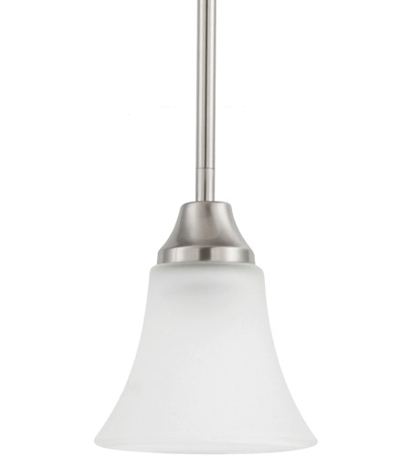 Sea Gull Lighting Holman 1 Light Mini Pendant in Brushed Nickel 61806-962