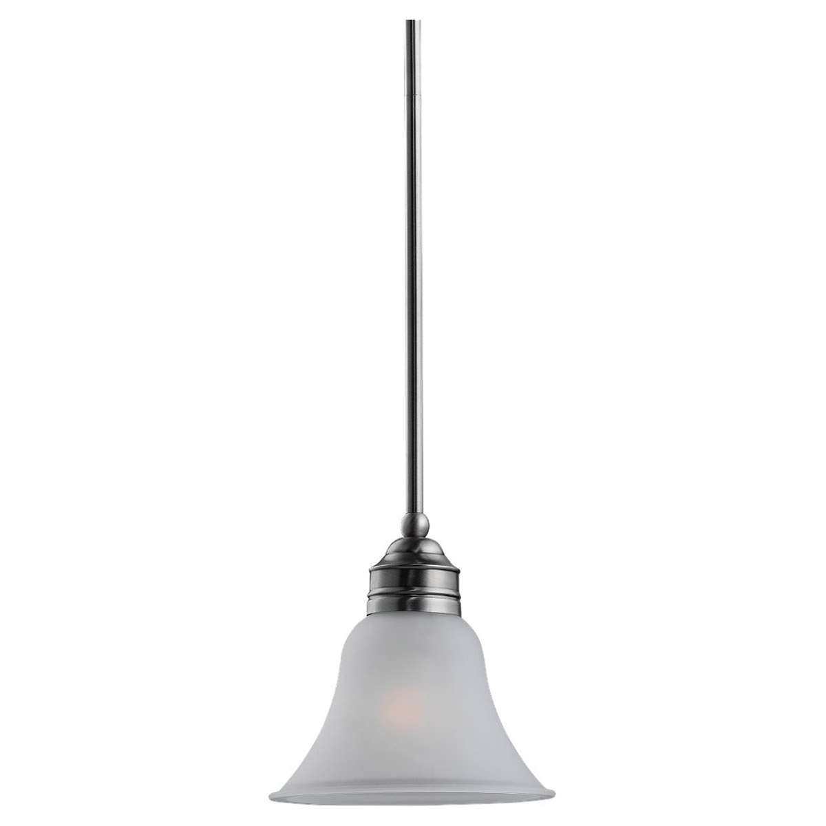 Sea Gull 61850-965 Gladstone 1 Light 8 inch Antique Brushed Nickel Mini Pendant Ceiling Light in Satin Etched Glass, Standard photo