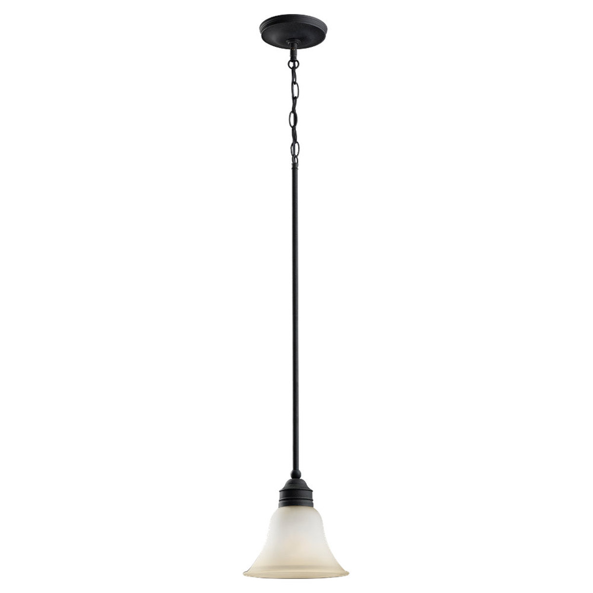Sea Gull Lighting Gladstone 1 Light Fluorescent Pendant in Forged Iron 61850BLE-185 photo
