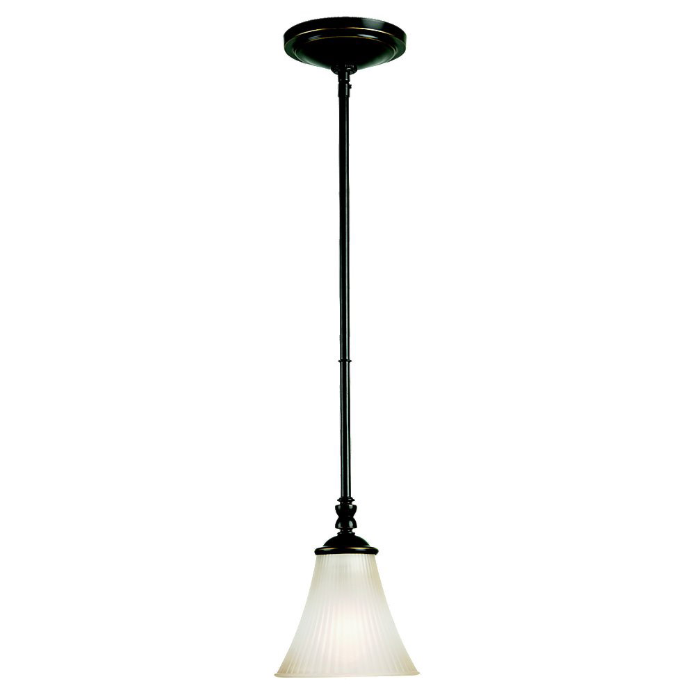 Sea Gull Lighting Joliet 1 Light Mini Pendant in Heirloom Bronze 61935-782