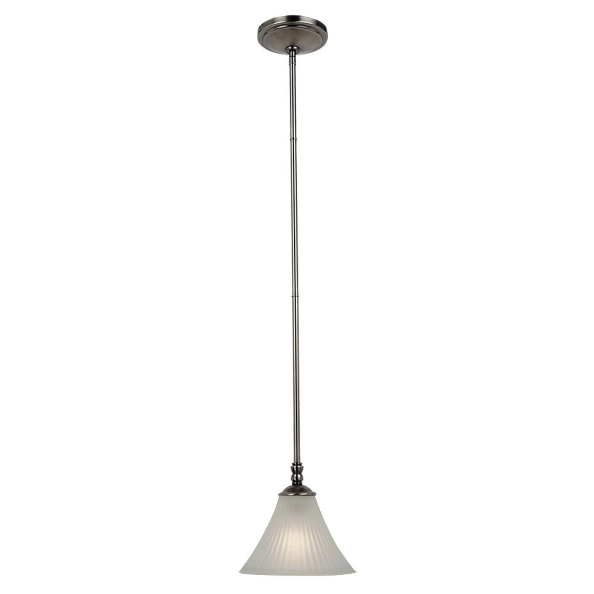 Sea Gull Lighting Joliet 1 Light Mini Pendant in Antique Brushed Nickel 61935-965 photo
