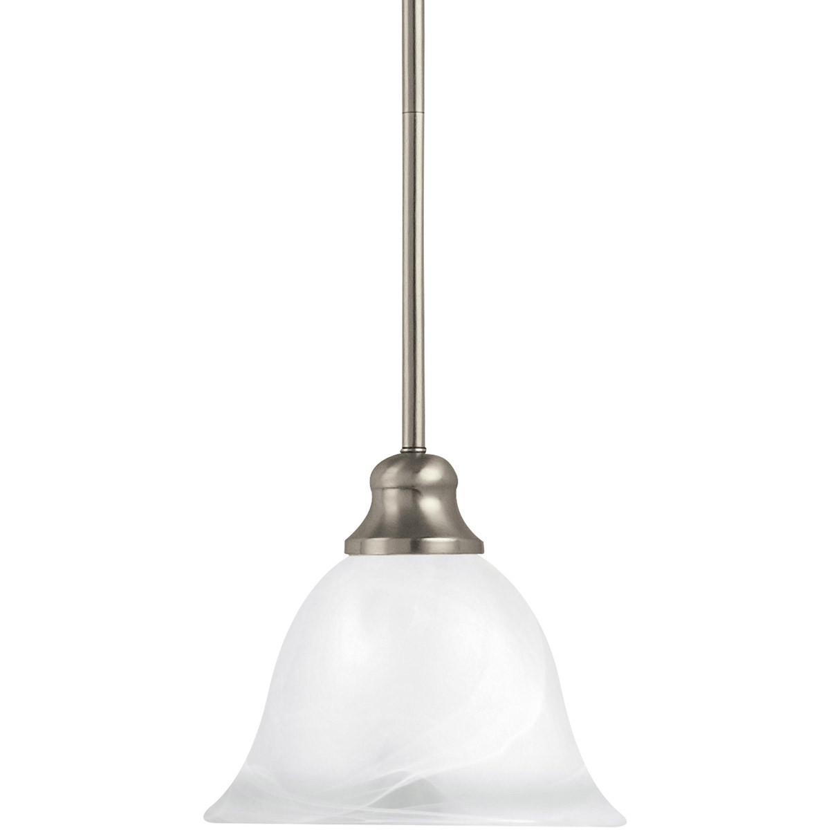 Sea Gull Lighting Windgate 1 Light Mini Pendant in Brushed Nickel 61940-962