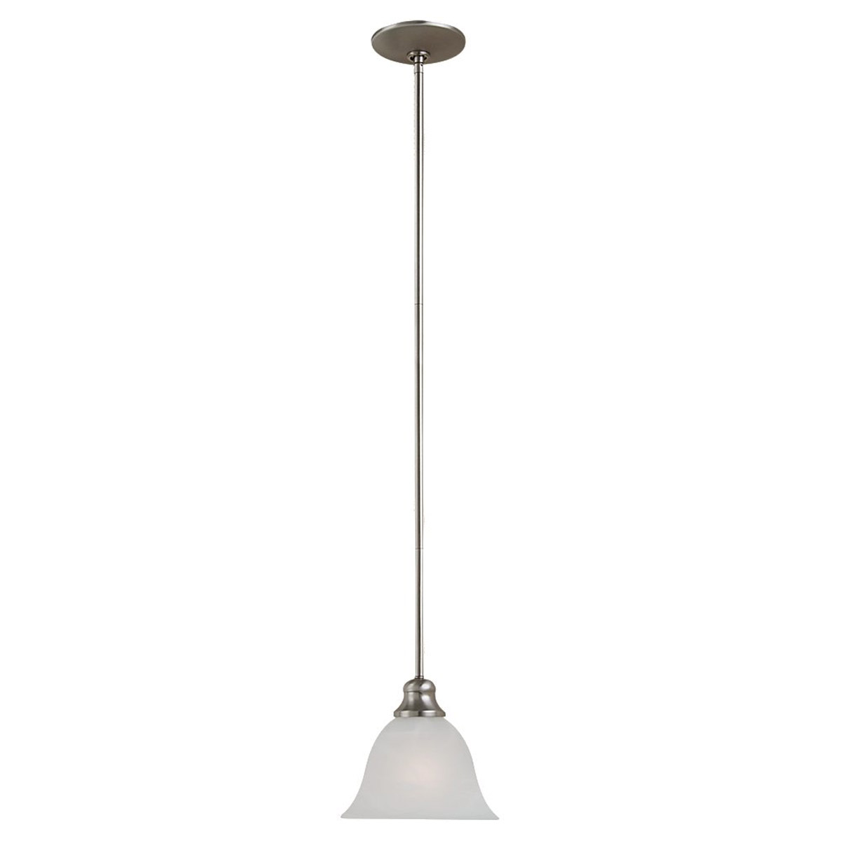 Sea Gull 61940BLE-962 Windgate 1 Light 7 inch Brushed Nickel Mini Pendant Ceiling Light in Fluorescent photo