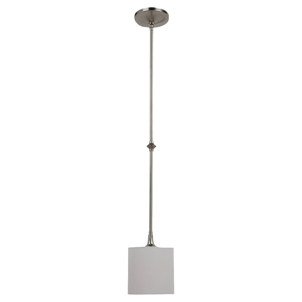 Sea Gull Lighting Stirling 1 Light Mini Pendant in Brushed Nickel 61952-962