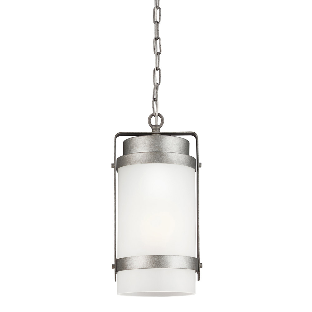 Sea Gull Bucktown 1 Light Outdoor Pendant in Weathered Pewter 6222401-57