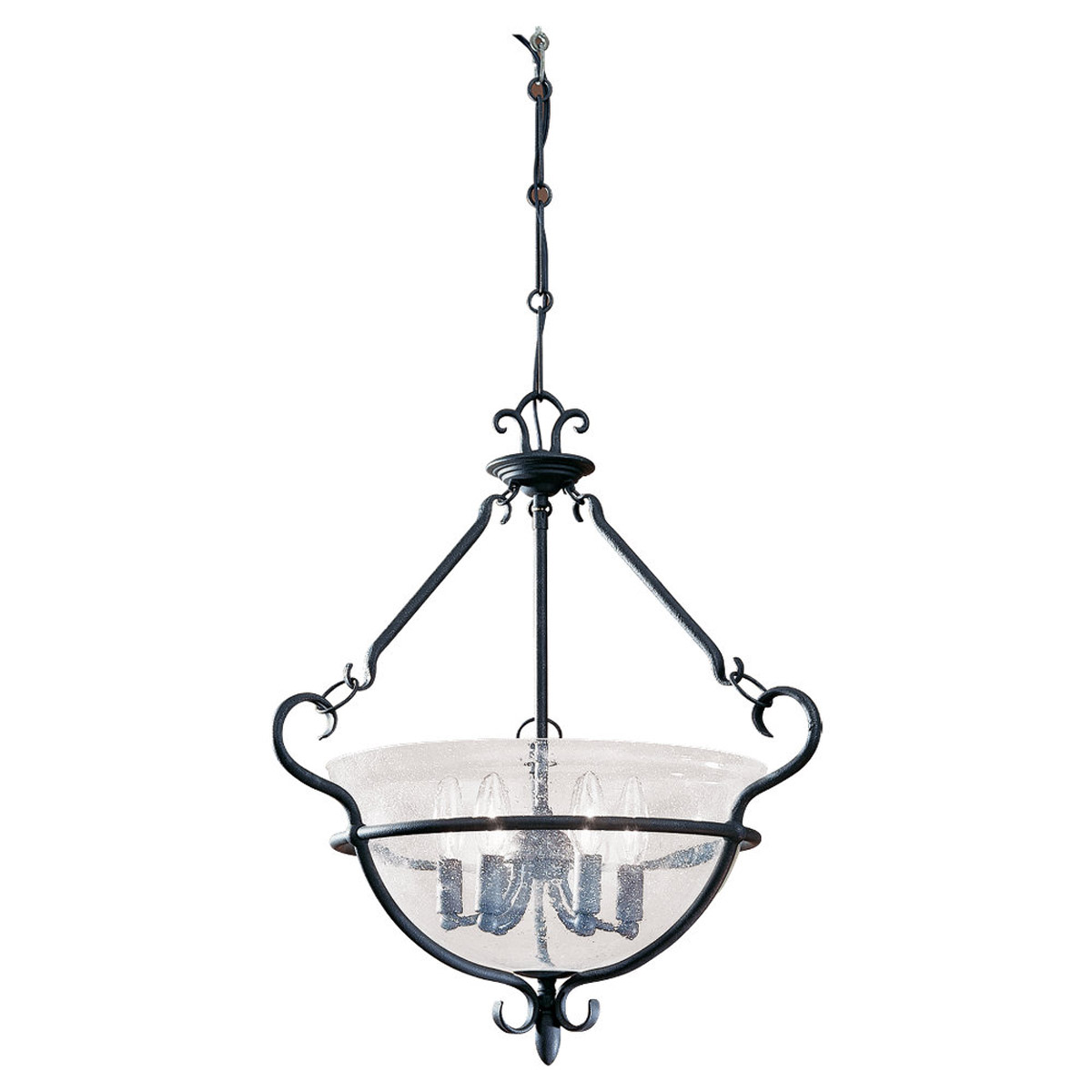 Sea Gull Lighting Manor House 6 Light Pendant in Weathered Iron 6501-07