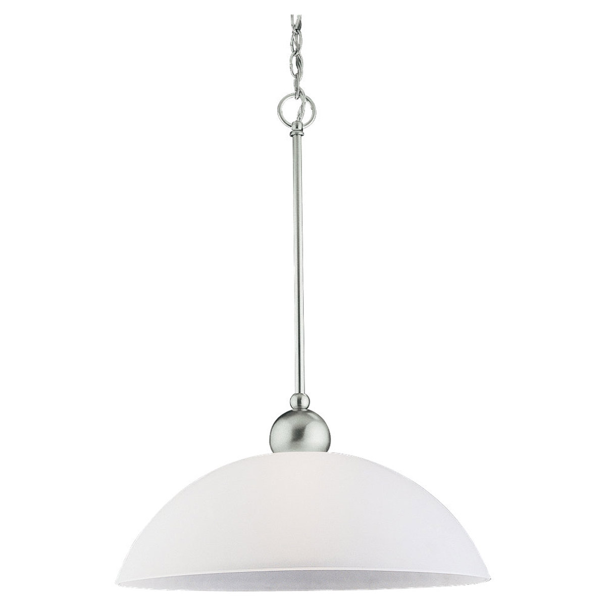 Sea Gull 65035-962 Metropolis 1 Light 18 inch Brushed Nickel Pendant Ceiling Light photo