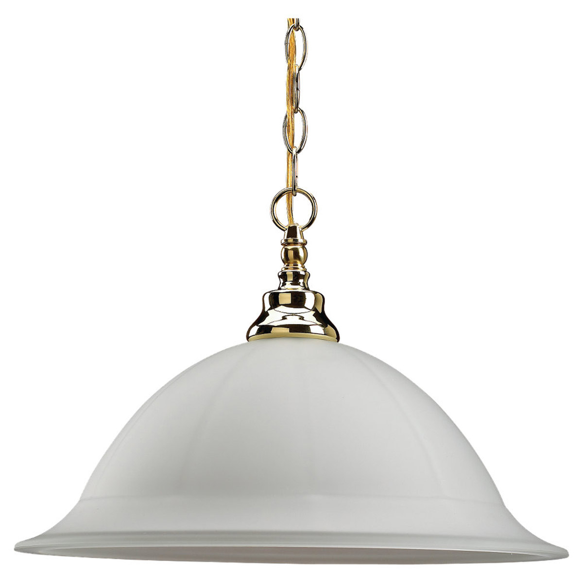 Sea Gull Lighting Canterbury 1 Light Pendant in Polished Brass 65050-02