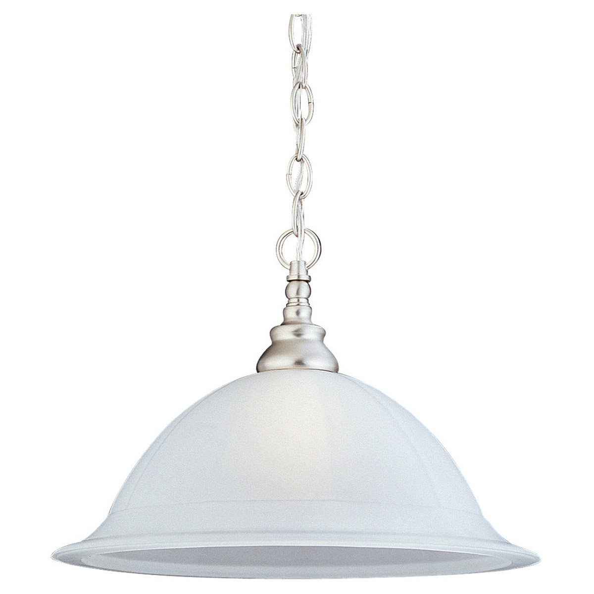 Sea Gull Lighting Canterbury 1 Light Pendant in Brushed Nickel 65050-962