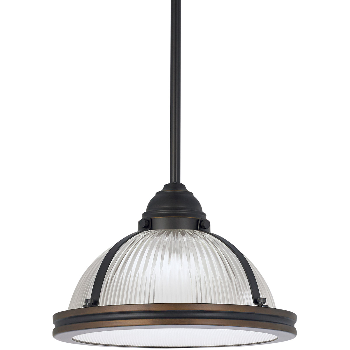 Sea Gull 65060-715 Pratt Street Prismatic 1 Light 11 inch Autumn Bronze Pendant Ceiling Light photo