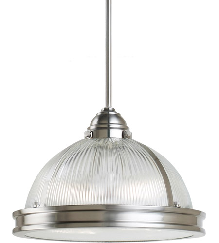 Sea Gull Lighting Pratt Street Prismatic Fluorescent 2 Light Pendant in Brushed Nickel 65061BLE-962