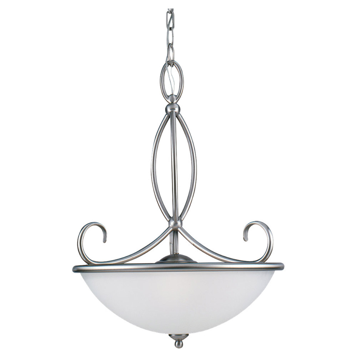 Sea Gull Lighting Pemberton 3 Light Pendant in Brushed Nickel 65075-962